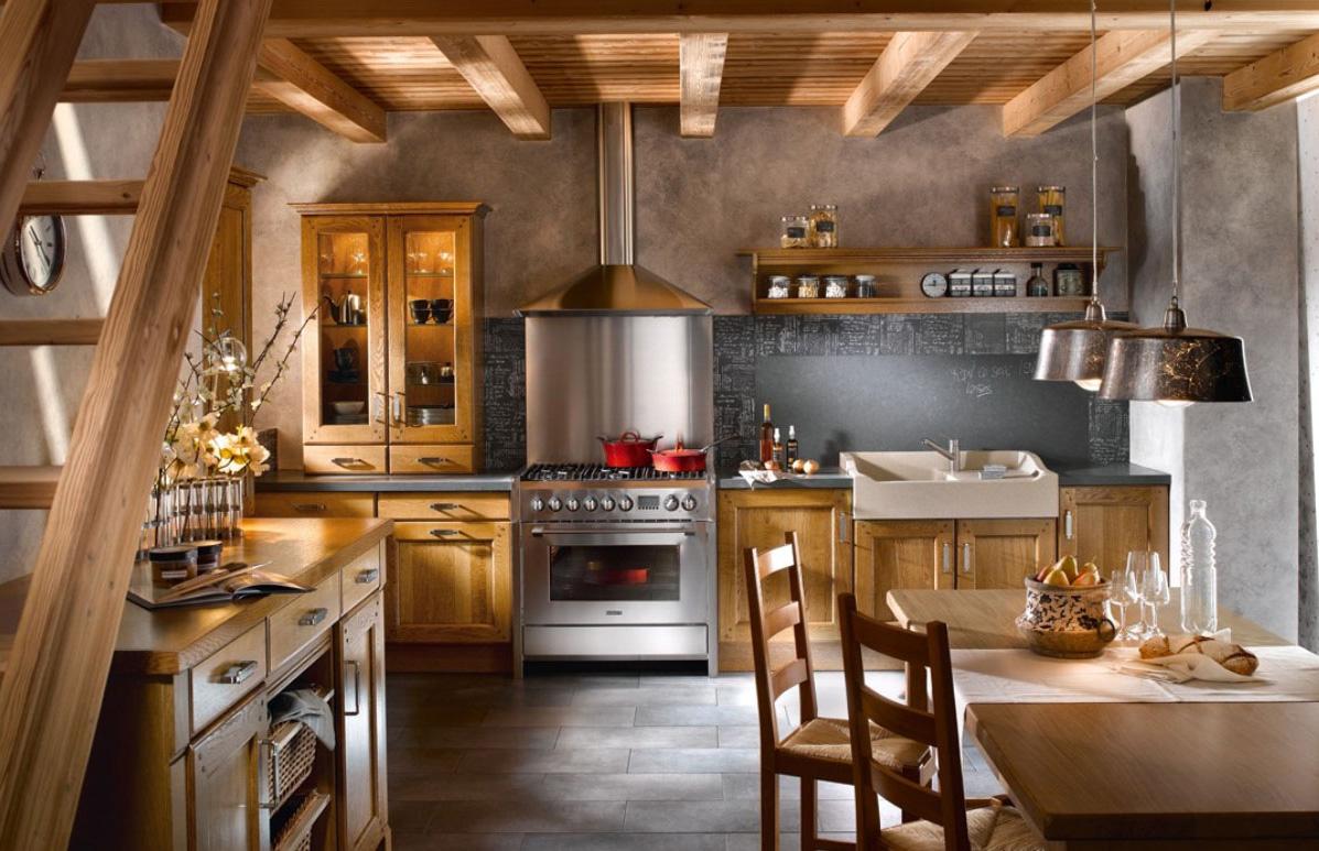 Кухонный интерьер рустик