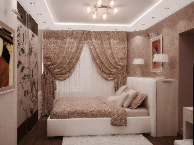 дизайна узкой спальни