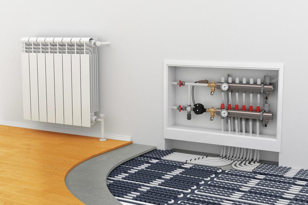 Комбинированное отопление радиаторы плюс теплый пол: есть ли выгода?