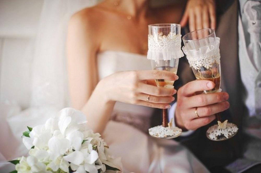Бокалы для шампанского своими руками