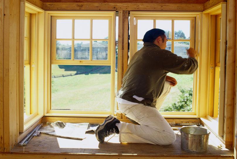 Восстановление и окраска деревянных рам