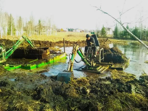 Легкое решение проблем по очистке и углублении водоемов