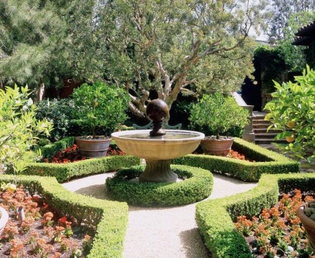 Современные фонтаны и использование их в ландшафтном дизайне