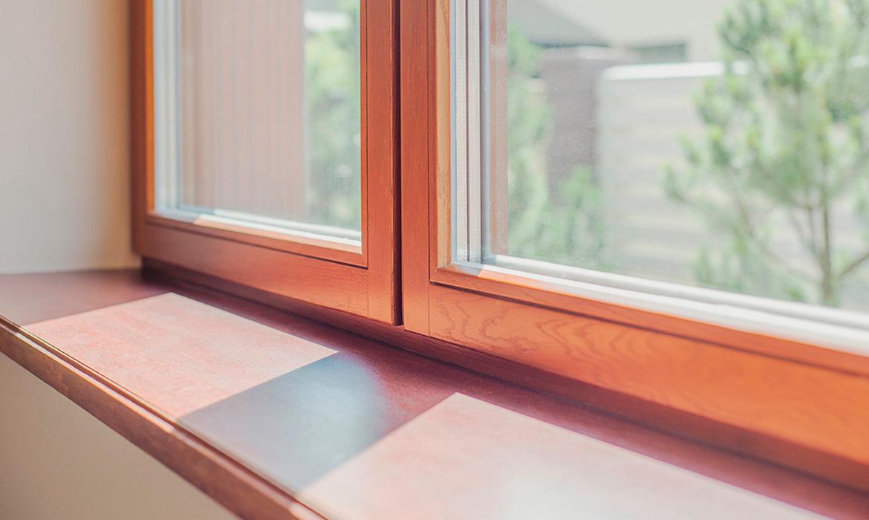 Комбинированные окна из дерева