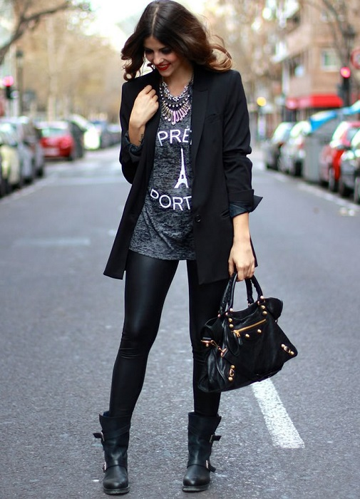 С чем носить грубые женские ботинки
